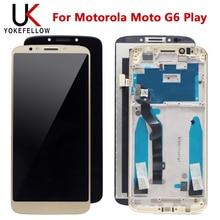 Wyświetlacz LCD dla Motorola Moto G6 Play wyświetlacz LCD wymiana ekranu dotykowego Digitizer dla Motorola Moto G6 Play LCD czarne złoto