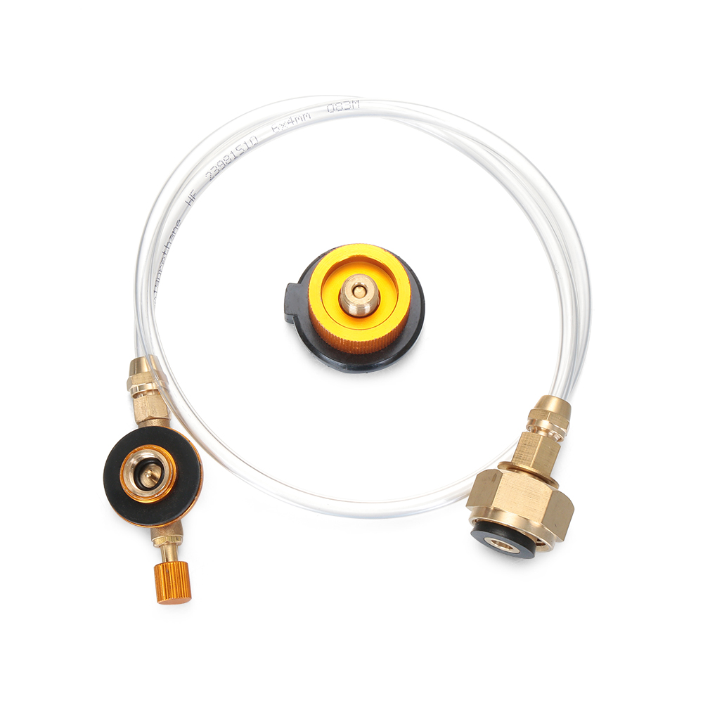 Outdoor Gas Stove Camping Stove Propane Refill Adapter Burner LPG Flat Cylinder Tank Coupler Bottle Adapter Save
