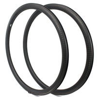 Carbon Fiber Cycle Rims 12K Finish 38mm Depth 25mm/27mm Width Road Rims 700c Bicycle Rim For 18/20/21/24 Hole