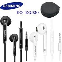 סמסונג אוזניות 3.5mm תקע ב אוזן משחקי אוזניות תמיכה Galaxy S8 S8P S9 S9P EO EG920 Wired עם שחור אחסון תיבה