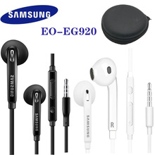 SAMSUNG Earphone 3.5mm plug In ear Gaming Headsets Support Galaxy S8 S8P S9 S9P EO EG920 Wired with Black Storage Box