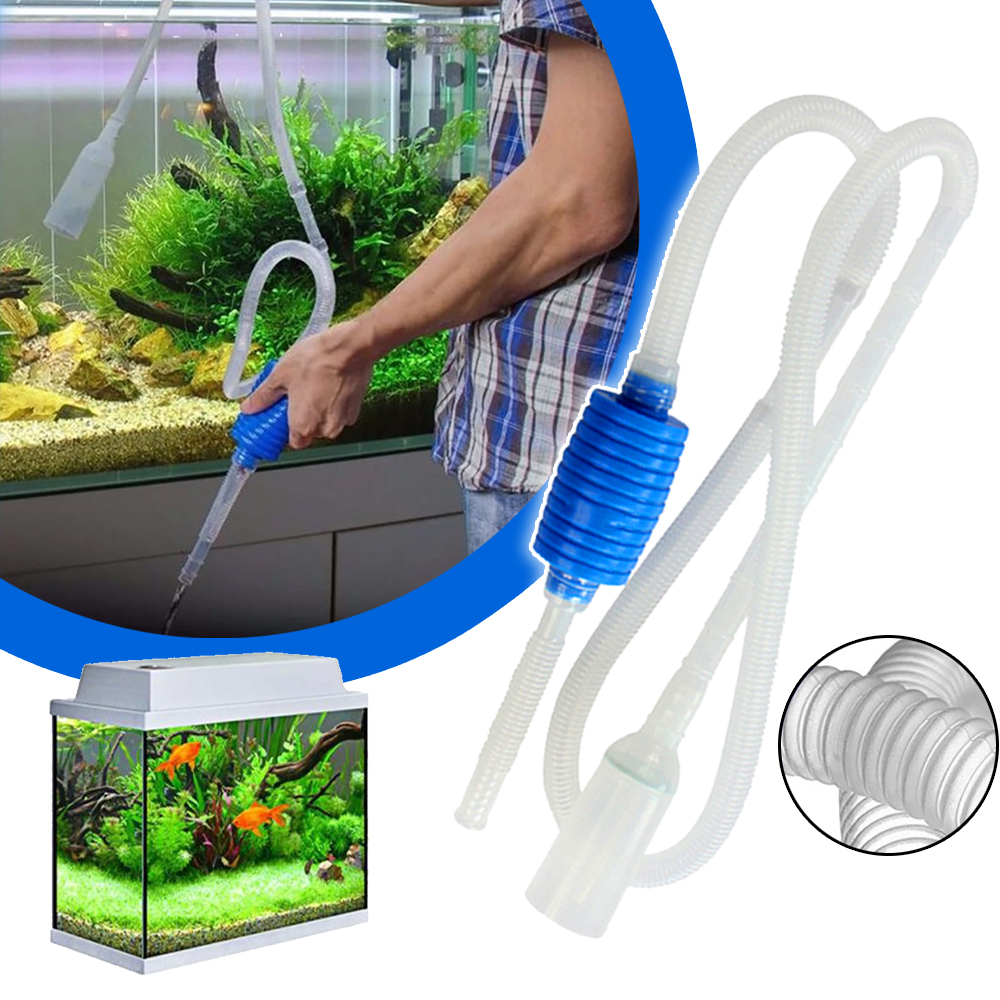 Aquarium Siphon Fish Tank Syphon Vacuum Cleaner Pump Semi-automatic Water Change Changer Gravel Water Filter Acuario Accessories