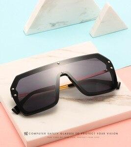 DPZ цельные дизайнерские Квадратные Солнцезащитные очки с F буквами, женские большие Винтажные Солнцезащитные очки с большой оправой, мужские зеркальные очки