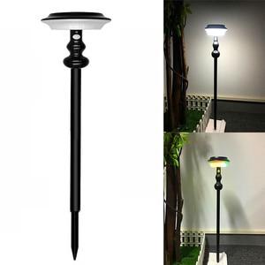 Светодиодный садовый светильник на солнечной батарее Открытый PIR датчик движения настенный светильник 4 режима цветастый меняющийся водон...
