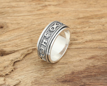 thailand silver the u s marine corps sniper badges ring Spinning Thailand silver Ring Real 925 Sterling Silver Vintage Black Ring For Men and Women Jewelry S231