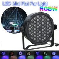 54x3W RGBW LED Commercial Lighting 162W 100V 220V PAR 64 DMX Sound Control for Indoor DJ Party Club Disco Stage Lighting Effect