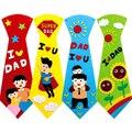 Детские галстуки ручной работы для детского сада, 1 комплект, Обучающие игрушки ручной работы, подарки на день отца, креативная игрушка, упак...