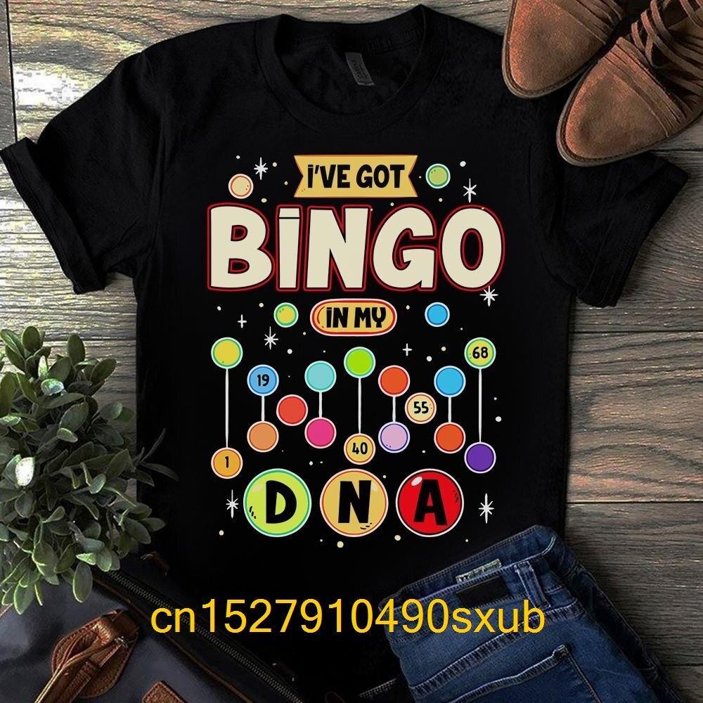 New Summer Men's Casual Print T-Shirt Fashion T-shirt I've Got Bingo In My DNA Shirt