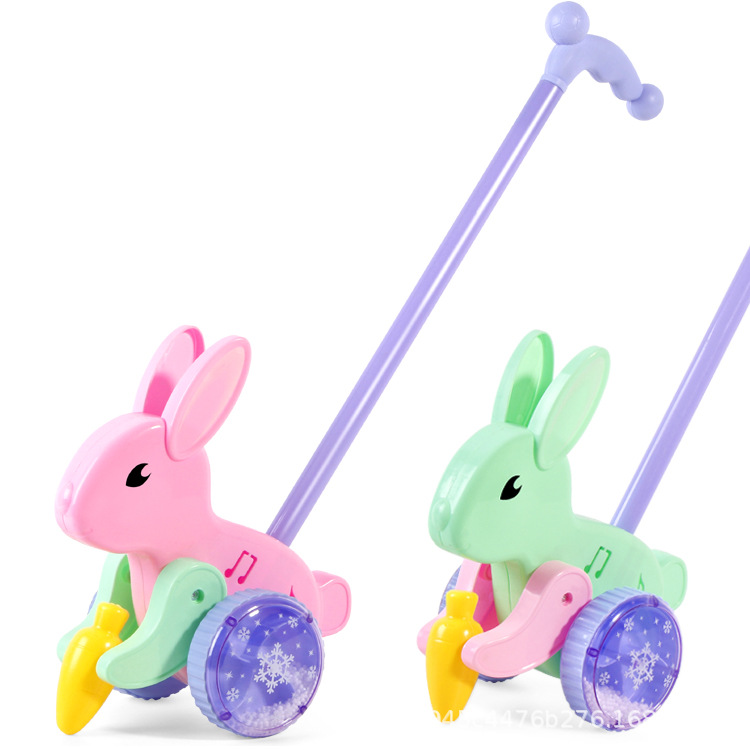 Children's Single Rod Cart Baby Walker Learning to Walk Rabbit Toy Stall Hot Selling