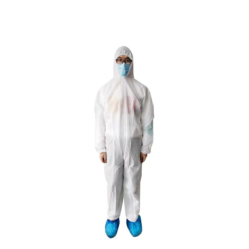 White Coverall Hazmat Suit Protection Protective Disposable Anti- Clothing Disposable Factory Safety Clothing
