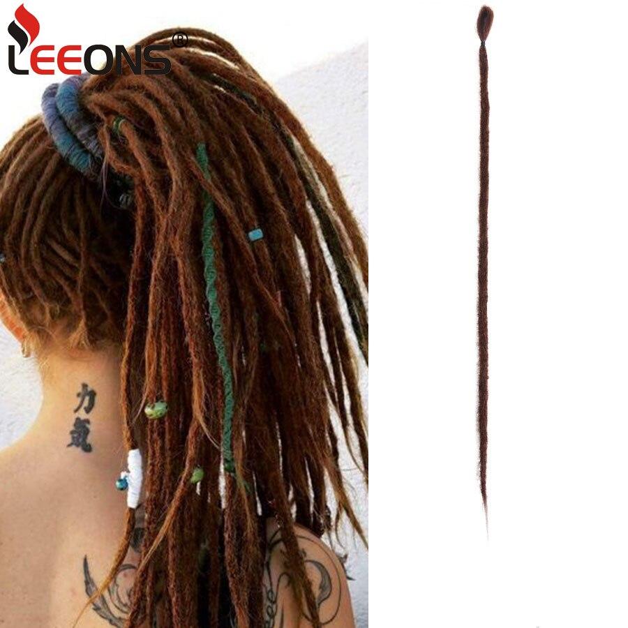 Leeons-extensiones de cabello de ganchillo sintético, extensiones de cabello de 20 pulgadas hechas a mano, más vendidos, pelo trenzado de ganchillo, 53 colores