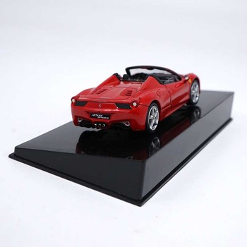Exquisite 458 Convertible Ferrar 1/43 scale static simulation SPIDER car alloy model toy gift collection indoor display image