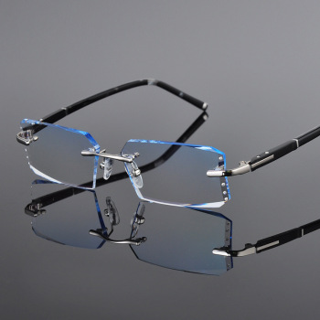 HDCRAFTER Prescription Glasses Myopia Glasses With Gradient Lens Anti Blue Rays Computer Protection Photochromic Glasses