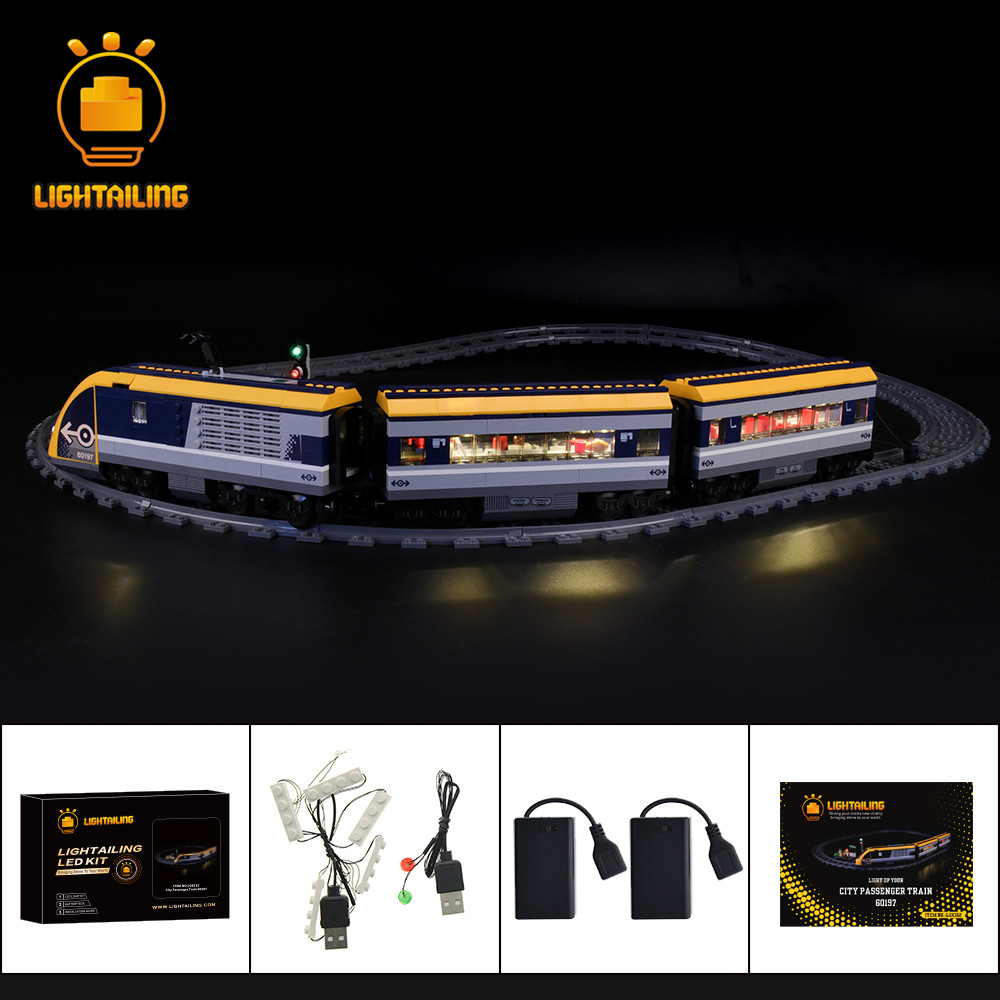 LIGHTAILING LED Light Kit For City Passenger Train Light Set Compatible With <font><b>60197</b></font> (NOT Include The Model) image