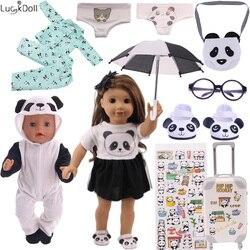 12 шт., милая кукольная одежда с пандой, аксессуары на выбор для куклы для девочек 18 дюймов и 43 см, Товары для новорожденных и наше поколение