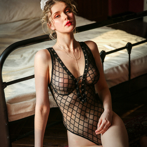 Black Summer Sexy Jumpsuit Ins Grid Yarn Transparent Hollow Lace Bandage Bodysuit Elegant Bodycon Jumpsuit Women Rompers