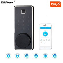 Smart Lock Keyless Entry Bluetooth Lock With Fingerprint Reader And Touch Screen Keypad Tuya Wifi APP Compatible For Home Office