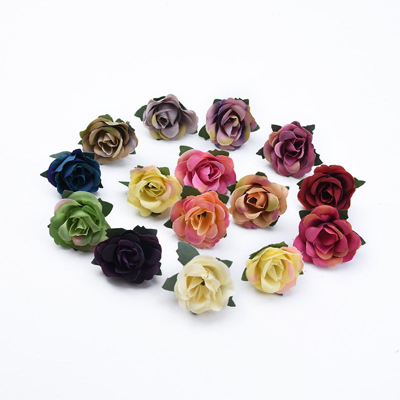 10/30 Pieces MINI Silk Roses Head Diy Gifts Box Wedding Bridal Accessories Clearance Home Decorative Flowers Artificial Flowers
