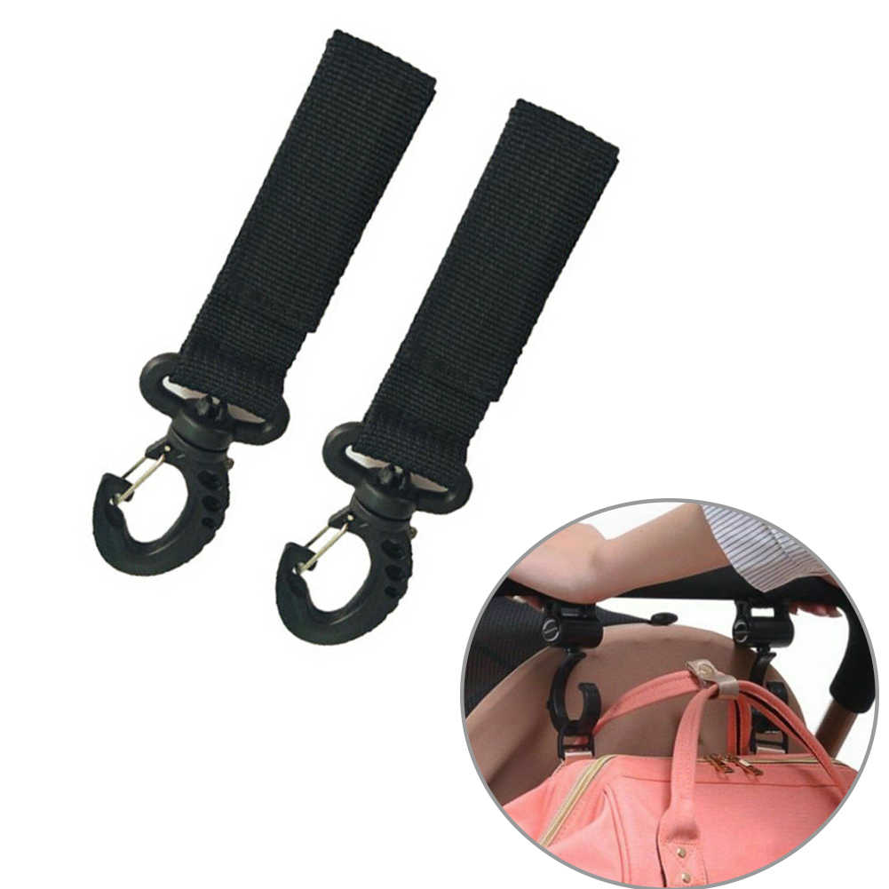 1 paar Rugzak Hanger Kinderwagen Haken Multifunctionele Sluiting Lichtgewicht Tas Clip Gesp Nuttig Draagbare dragende