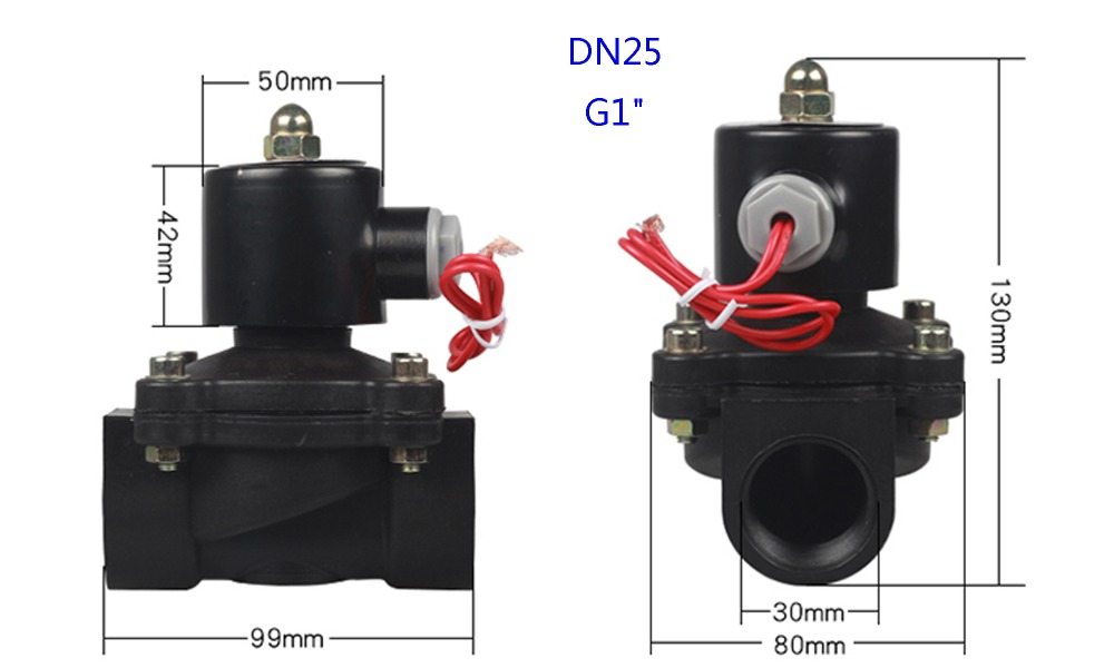 H25df3352164e4ca183ceabd1ef737af0X - DN08/10/15/20/25/32/40/50   AC 110V AC 220V DC 12V DC 24V Plastic normally closed solenoid valve water valve switching valve