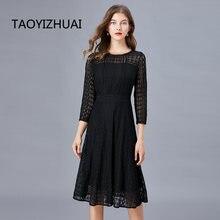Брендовое платье в стиле Звезд taoyizhuai весенне осеннее новое