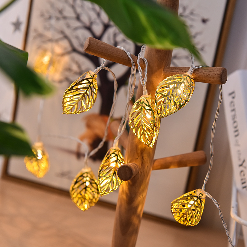 LED Lighting Chain Cell Box Room Decoration Leaves Lighting Chain Holiday Lights Ins Decorative Lights