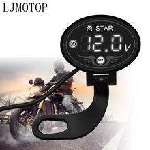 Moto Voltmetro del Tester Display A Led Tester di Tensione Per HONDA CRF230F XR230 XR250 XR400 CRF 230F XR 250 230 400 Accessori