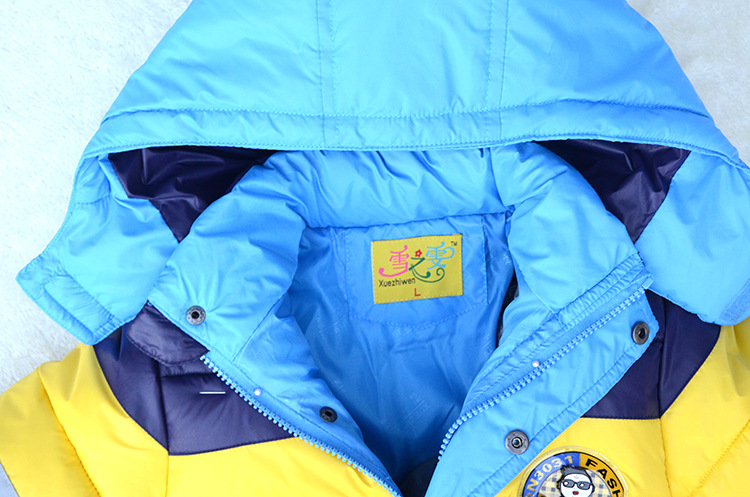 3-10Yrs Baby Girls Jacket boys Fashion Winter coat Children down Jacket cotton Kids winter Warm hooded jacket coat for girls