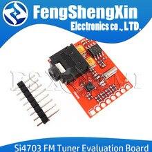 Novo si4703 rds fm sintonizador de rádio avaliação breakout módulo para arduino avr pic arm rádio serviço de dados filtragem módulo portador