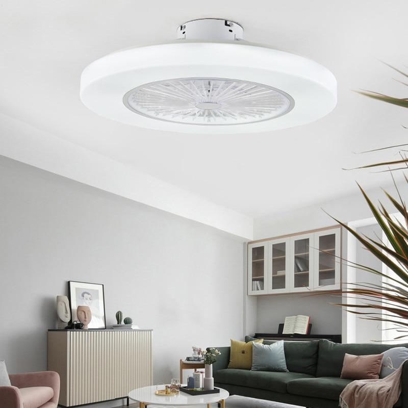 Fashion Style Modern Ceiling Fans With Led Lights Dimming Remote Control Ceiling Fan Lights Living Room Bedroom 110v 220v Enclosed Ceiling Fan