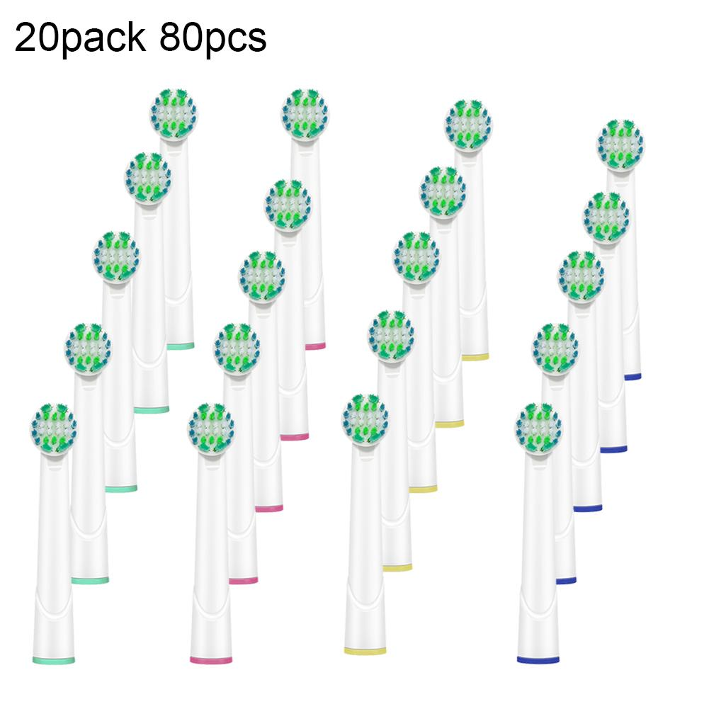 80Pcs Replacement Adult Auto Electric Toothbrush Heads for Braun Oral B D10 D20 image