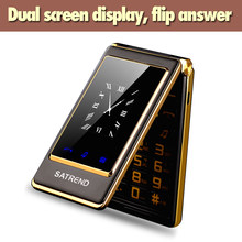 A15 podwójny ekran odwróć telefon z ekranem dotykowym Dual Sim 3.0 ''tanie starszy telefon komórkowy starszy Clamshell Celular