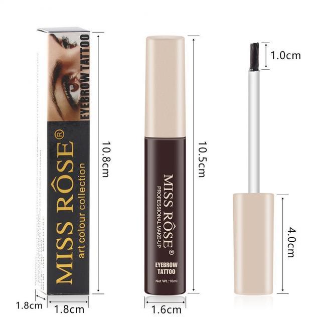 MISS ROSE 12 Colors Tattoo Eyebrow Waterproof Lasting Microblading Eyebrow Gel Korean Makeup Eyebrow Enhancer Tint Cream TSLM2 2