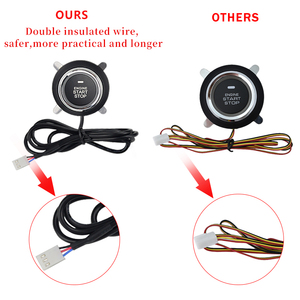 Image 4 - Car PKE Keyless Entry system one start stop button alarm system with remote control for 12v car keyless start accessories