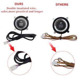 Image 4 - Автомобильный PKE бесключевая система входа одна кнопка пуска стоп система сигнализации с пультом дистанционного управления для 12v автомобиля бесключевая кнопка пуска аксессуары