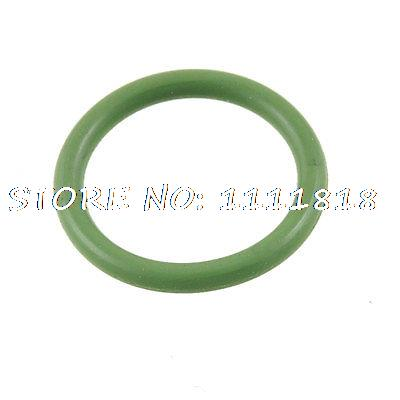 18mm X 14mm X 2mm Green Fluorine Rubber O Ring Grommet