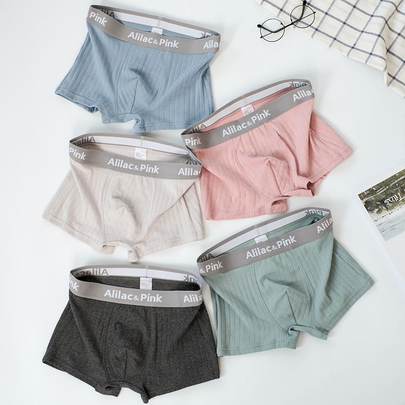 3pcs Men Boxer Solid Color Men Underwear Cotton Pants Comfortable Breathable Shorts Personality Fashion Sports Boys Boxers
