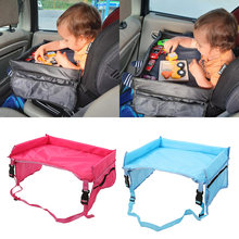 Baby Car Seat Tray Stroller Kids Toy Food Water Holder Desk Children Portable Table for Car New Child Play Table Storage 40*33cm(China)