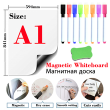 Soft Magnetic Whiteboard Sticker Fridge Magnets Presentation Boards School Message Boards Writing Escolar Dry Erase White Board