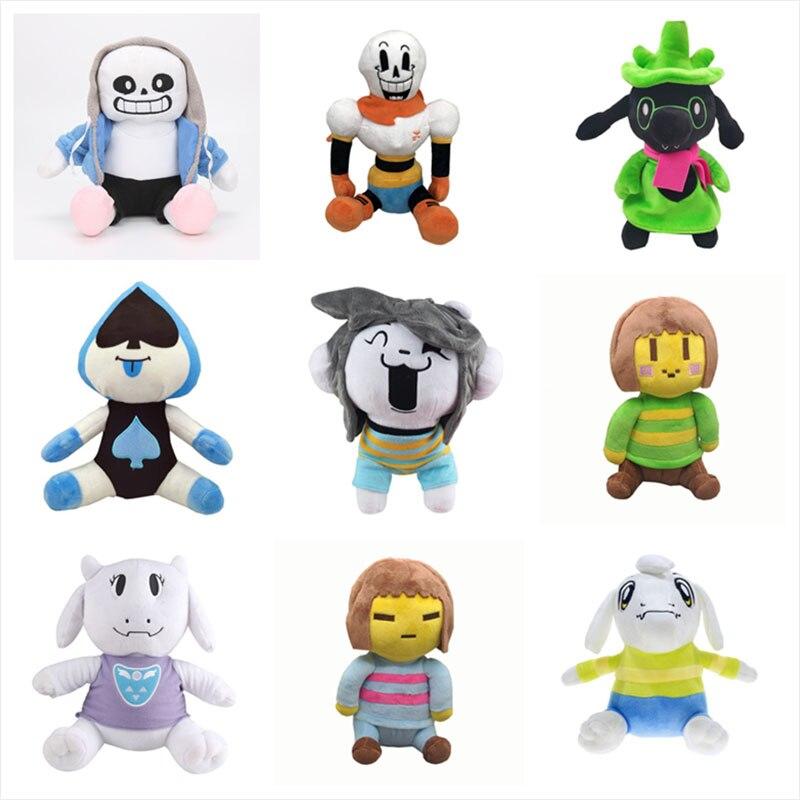 23-28cm Undertale jouets en peluche poupées Sans Frisk Chara Asriel Lancer Temmie Toriel doux jouets en peluche pour enfants cadeaux d'anniversaire