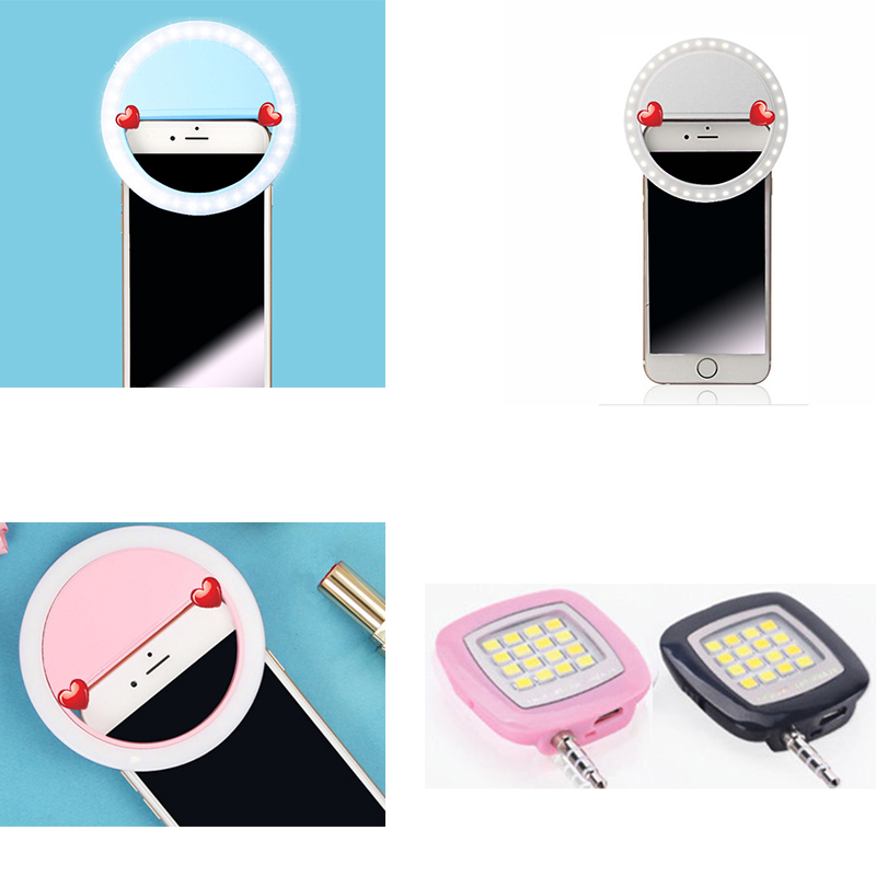 Selfie LED Ring Flash Light Portable Phone Selfie Lamp Luminous Clip Lamp Camera Photography Video Spotlight Lens