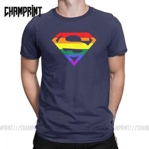 Крутая футболка супер квайр, Мужская хлопковая футболка с круглым вырезом, Радужная, гей, лесбиянок, гордость, ЛГБТ, футболки с короткими рук...