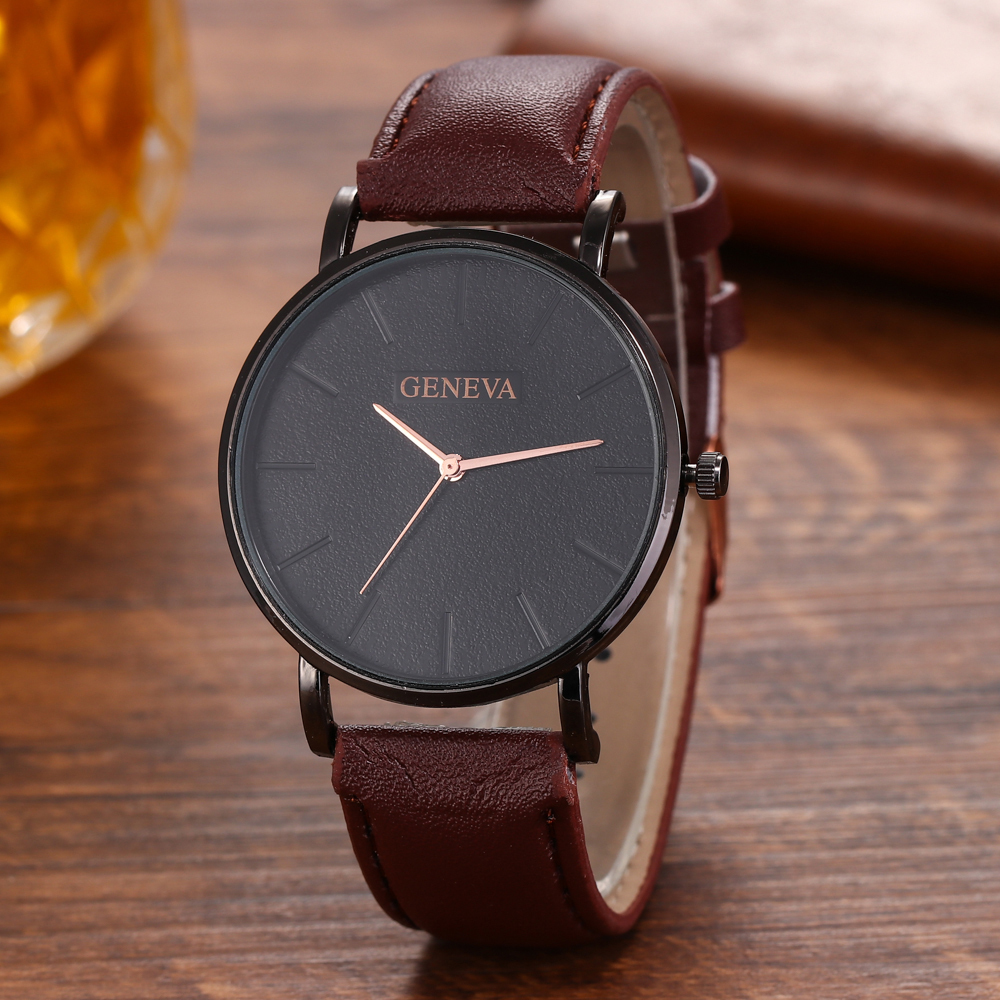 H25e002ffebcc4f38820e94bdaefb86d3I Arrival Men's Watches Fashion Decorative Chronograph Clock Men Watch Sport Leather Band Wristwatch Relogio Masculino Reloj