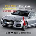 4 шт./лот 135 мм 5 футов значок сердечник колеса крышки логотип, логотипы марок машин, #8R0601165 # 4F0601165N для VW 5 коготь синий/черный