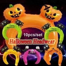 10Pcs/set Children Toys Balloons Cartoon Aluminum Film Christmas Halloween Headband Small Gift Colorful Attractive 998