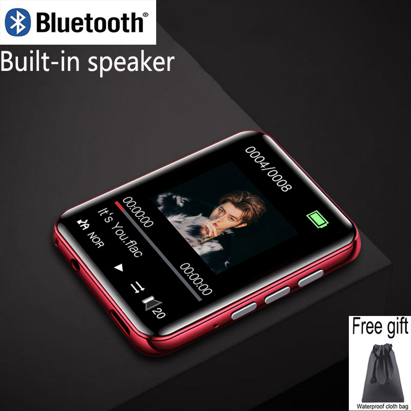 New RUIZU metal Bluetooth MP4 player full touch screen built-in speakers radio recording e-book Music video playback image