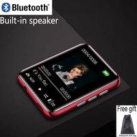 RUIZU-reproductor MP4 metálico con Bluetooth, completamente táctil, altavoces integrados, radio, grabación, e-book, música, reproducción de vídeo, novedad