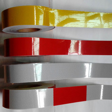 Adhesive-Tape Motorcycle-Accessories Reflective-Material Stickers Safety for Truck Red