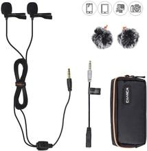 Comica CVM D02 Micrófono de solapa para teléfono inteligente iPhone y Android, para cámaras Sony, Canon y Nikon