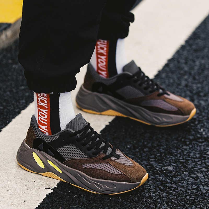 2019 Новая повседневная дышащая обувь Для мужчин лето-осень платформа Для мужчин обувь со шнурками большие Размеры замшевые Для мужчин s кроссовки; удобная обувь
